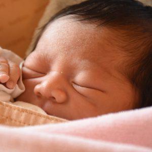 写真 眠っている赤ちゃん