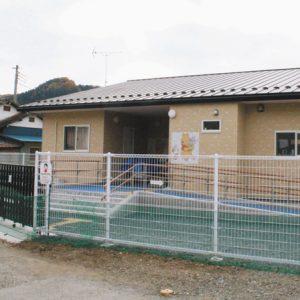 写真 4月、駐車場だったところに開設された企業主導型保育所=埼玉県小鹿野町で