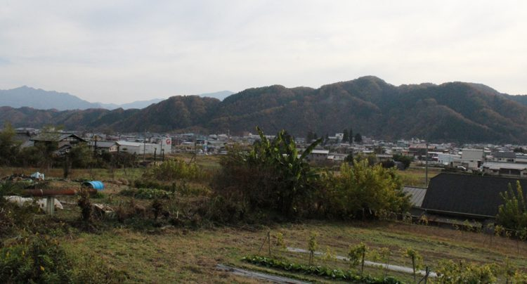写真 山々に囲まれた小鹿野町の市街地。待機児童は少なくともここ10数年はいないという