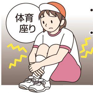 図解 体育座りで体にかかる負担