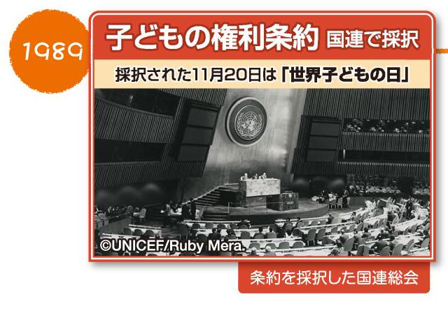 図解 子どもの権利条約 日本の歩み 条約が国連で採択されたのは1989年
