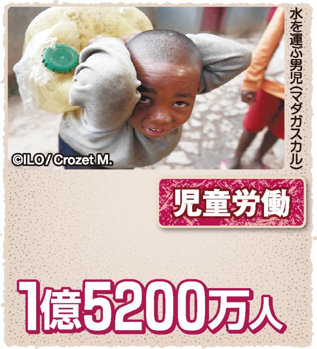 図解 世界の子どもは今 児童労働は1億5200万人、10人に1人
