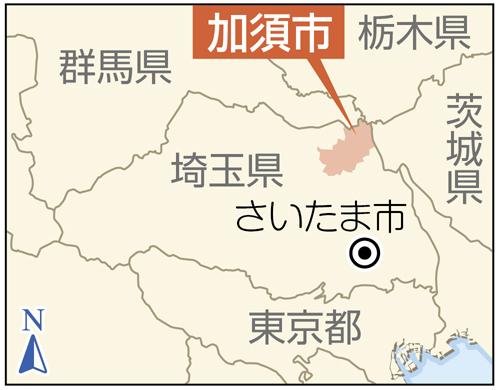 埼玉県加須市の地図