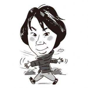 浅野有紀記者の似顔絵