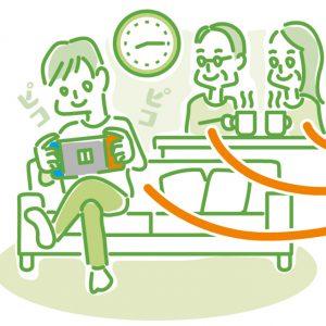 イラスト 「この時間は休憩時間」と決めて、親子で共有しよう
